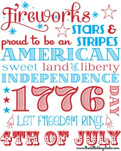 Summer subway art, holiday fonts, july images, happy 4 of july, Fourth Of July Quotes, Fourth Of July Shirts, Summer Subway Art, Holiday Fonts, Holiday Decor, July Images, Happy Birthday America, Diy Calendar, Let Freedom Ring