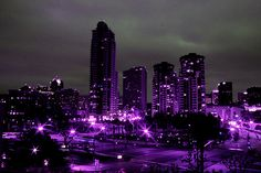 We're turning the city purple...
