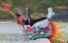 Capturing the Flag for the Rose Festival Dragon Boat Races. Capture The Flag, Dragon Boat Festival, Dragon Art, Boating, Make Me Smile, Gadgets, Memories, Rose, Artist