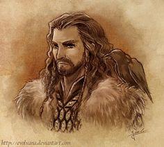 Thorin Oakenshield portrait by Evolvana.deviantart.com on @deviantART