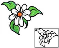 This Daisy tattoo design from our Plant Life tattoo category was created by Booner. This tattoo art will incorporate a printable color reference that can be sized, and precise matching stencil. Tattoo Johnny designs come from artists around the world.