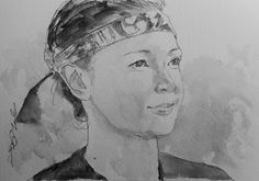 """Acoustic Drawings The Shinji Ogata Gallery: The Portraits at """"Fundraising for Kumamoto, Japan""""..."""