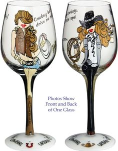 Hand Painted Wine Glass by Bottoms Up - Urban Cowgirl Bottom's Up http://www.amazon.com/dp/B00698TC60/ref=cm_sw_r_pi_dp_0rUfub0DFPPW9