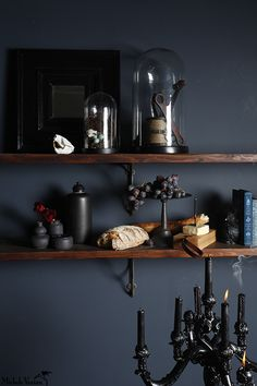 BREAD & CHEESE SHELF Michele Varian Dark & Moody, but intimate Thanksgiving table. Everything available at my store and www.michelevarian.com