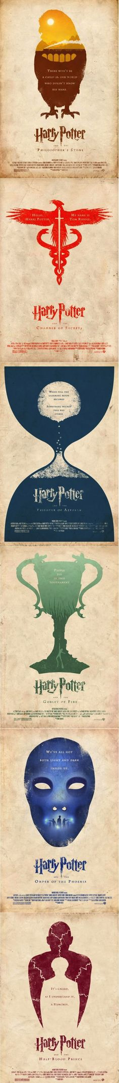 Harry Potter Movie Posters.