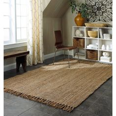 nuLOOM Handmade Eco Natural Fiber Chunky Loop Jute Rug (9'6' x 13'6) | Overstock.com Shopping - Great Deals on Nuloom 7x9 - 10x14 Rugs