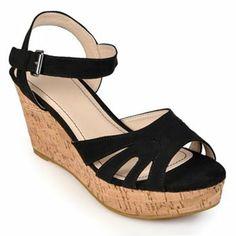Journee Collection Levana Wedge Sandals - Women