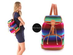 Style Find Colorful Backpack from Stela 9 Hacienda -- great weekend bag