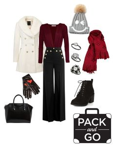 """""""somewhere cold"""" by daddy-allahu-akbar ❤ liked on Polyvore featuring RED Valentino, Boutique Moschino, WithChic, New Look, Louis Vuitton, Givenchy and Miss Selfridge"""