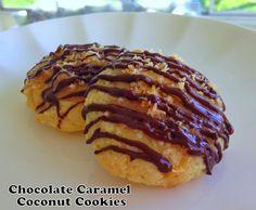Chocolate Caramel Coconut Cookies