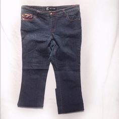 Jamaican Stitched Dark Wash Jeans Worn | Good Condition | Dark Wash | Red, White, Yellow, & Green Stitch Design on Front & Back Pockets | Small Snag on Back | 98% Cotton | 2% Spandex |🚫 Trades | Feel Free to Ask Questions 🙋| More 📷 Upon Request | Bundles & Offers are Welcomed ❤️| Rocawear Jeans Straight Leg