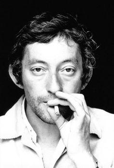 """Singer Serge Gainsbourg"" 1970, photo by Italian photographer GIANCARLO BOTTI (born 1931)"