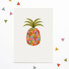 Disco Pineapple —  A3 Print / Art / Nursery Decor / Tropical / Fruit / Kawaii by StudioBinkyShop on Etsy https://www.etsy.com/listing/204824985/disco-pineapple-a3-print-art-nursery