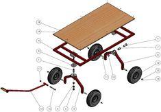Welding Cart, Metal Welding, Pvc Projects, Welding Projects, Fishing Cart, Beach Wagon, Pull Wagon, Hand Cart, Tool Cart