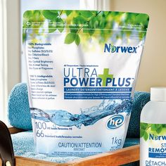 Norwex's filler- and fragrance-free Ultra Power Plus Laundry Detergent is an eco-friendly alternative.