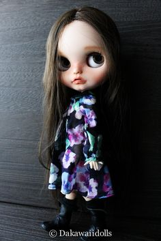 "One customized OOAK BlytheDoll "" Mina "" by Dakawaiidolls on Etsy"