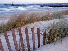 St. Joseph Lighthouse on Lake Michigan, Berrien County, Michigan
