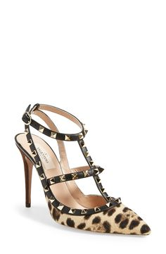 The chic leopard print gives these Valentino Rockstuds an exotic update.