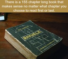 """A book that makes sense no matter where what chapter you read from- """"Rayuela"""" (Julio Cortazar) and it's awesome Long Books, Wtf Fun Facts, Random Facts, A Silent Voice, Tips & Tricks, Book Memes, The More You Know, Book Lists, Mind Blown"""