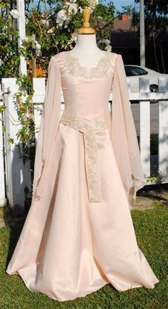 Girls Fantasy Medieval Gown Chiffon Sleeves by RomanticThreads, $245.00 Good for a Sansa dress.