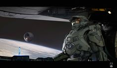 ArtStation - HALO, by minovo wang.More robots here. Spaceship Concept, Robot Concept Art, Concept Weapons, Odst Halo, John 117, Halo Armor, Halo Series, Grand Admiral Thrawn, Halo Collection