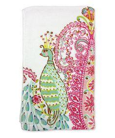 Peacock Hand Towel by Dena Designs #zulily #zulilyfinds