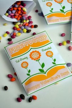 Seeds of Friendship ~ Free Printable Seed Packet Valentine DIY (fill with delicious and nutritious candy coated sunflower seeds!)