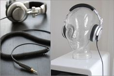 DIY Headphone Stand - Build a cool headphone hanger to get your over-the-ear headphones off your desk and keep them safe when you're not using them. Well we have some DIY Headphone Stand Ideas for you. Best In Ear Headphones, Diy Headphones, Diy Headphone Stand, Headphone Holder, Swedish House, Home Design Decor, Stand Design, Easy Diy, Simple Diy