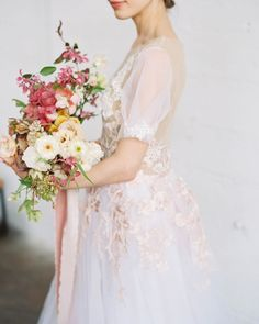 To let my soul breathe, I simply am. Pretty Wedding Dresses, V Neck Wedding Dress, Wedding Dress Styles, Bridal Dresses, Brides And Bridesmaids, Bridesmaid Bouquet, Wedding Bouquets, Floral Wedding, Wedding Colors