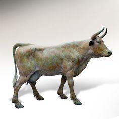 Animal Anatomy, Honey Badger, Sculpture Garden, Animal Sculptures, Animal Design, Cows, Wood Carving, Pet Birds, Farming