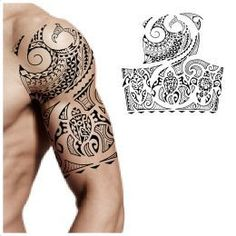 Maori Samoan Fijian halfsleeve tattoo More