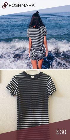 Brandy Melville Navy/white striped Jenelle dress NWT Brandy Melville Dresses