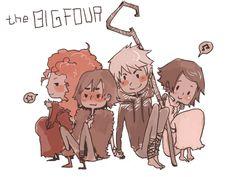 merida hiccup jack rapunzel   Fan art) Merida, Rapunzel, Jack et Hiccup - The Big Four - Page 15