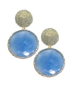 Crystal And Chalcedony Circle Earrings Jennifer Miller Circle Earrings, Dangle Earrings, Gold Glitter, Jewelry Stores, Jennifer Miller, Fashion Accessories, Gemstone Rings, Jewels, Gemstones