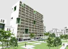Mehrshahr Residential Complex Proposal / ContemporARchitectURban Designers Group,courtyard's general view