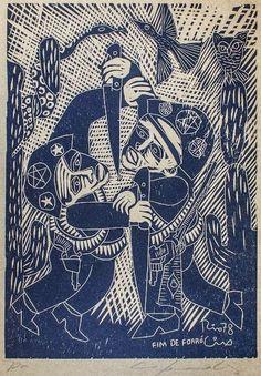 Ciro Fernandes. Fim de Forró. Art And Illustration, Japanese Illustration, Arte Popular, Popular Art, Egon Schiele Drawings, Brazil Art, Gravure, Woodblock Print, Artwork Prints