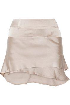 Haider Ackermann   Layered satin mini skirt   NET-A-PORTER.COM