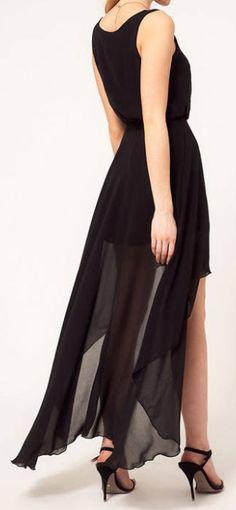 Asymmetrical Chiffon Dress.  dresslily.com