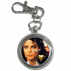 Beautiful Michael Jackson Collectible Photo Silver Tone Key Chain Watch 12,59€