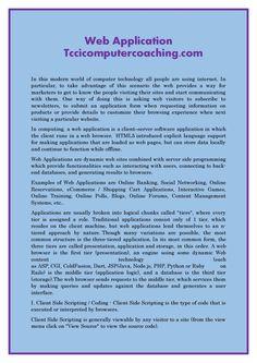 Web application tccicomputercoaching com  TCCI also provide quality Web Application Development Services.