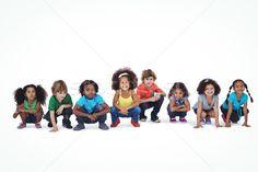 Stock fotó: Csetepaté · gyerekek · guggol · lefelé · együtt · fehér Friend Friendship, Female Friends, Black Boys, The Row, Cool Girl, Cheer, Marvel, Entertaining, Stock Photos