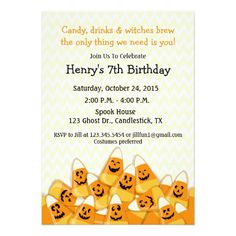 Angels and devils halloween invitation ca pinterest halloween candy corn halloween birthday party invitation stopboris Gallery