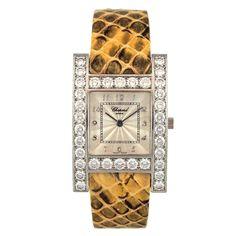 1stdibs | Chopard Lady's White Gold and Diamond H Diamond Wristwatch