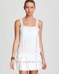 OndadeMar Swim Coverup - Embroidered Cotton Dress $168.00