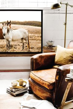 'Pastures' Photographic Print by Kara Rosenlund. The free flowing nature of wild horses in the long bleached grasses. Captured in rural Victoria.  © Kara Rosenlund  Shop here: http://shop.kararosenlund.com/pastures-photographic-print/