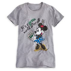 Minnie Mouse Tee for Women - Earth Day | Tees, Tops & Shirts | Disney Store