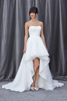 Top 25 High Low Wedding Dresses | http://www.deerpearlflowers.com/high-low-wedding-dresses/