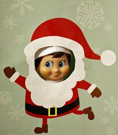 Elf on the Shelf cut-outs....CUTE IDEA!!