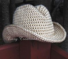 Cowboy Hat PDF Crochet Pattern by Easy Creations on Ravelry