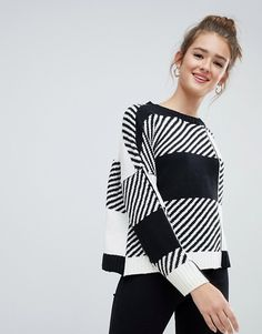 38 Awesome Women Knitwear Fashion Trend 2019 Best For Fall And Winter - Women's attire isn't just fascinating, it is likewise very flexible. This reality is first-rate when you take a gander at the various instances of wom. Knitwear Fashion, Knit Fashion, Pop Fashion, Fashion Trends, Black And White Shirt, Cardigans For Women, Fashion Dresses, Crochet, How To Wear